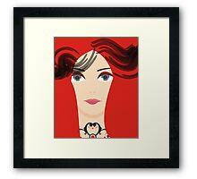 The Red Priestess Framed Print
