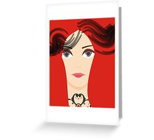 The Red Priestess Greeting Card