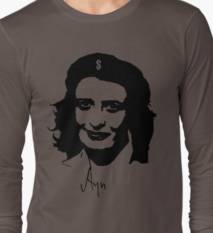 Ayn, revolutionary thinker. Long Sleeve T-Shirt