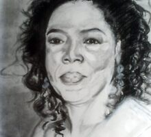 oprah winfrey charcoal sketch by jikpe