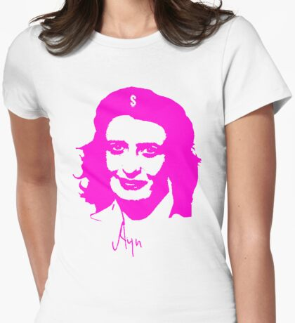 Ayn, revolutionary thinker. Womens Fitted T-Shirt
