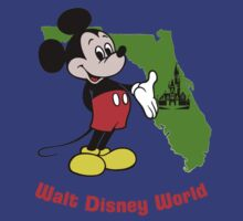 Vintage Florida Mickey Mouse Walt Disney World Resort Logo by The Department Of Citrus