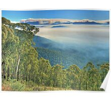 Kiewa Valley: Smoke from controlled burning. Poster
