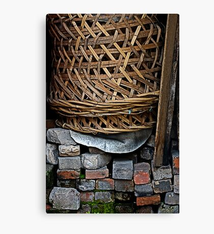 Discarded Basket Canvas Print