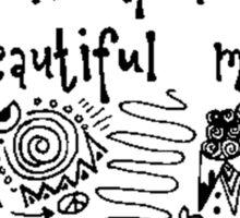 She Had A Beautiful Mind Sticker
