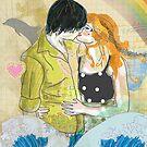 Textbook Love [peach & shadow] by Tiffany Atkin