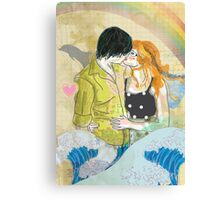 Textbook Love [peach & shadow] Canvas Print