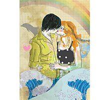 Textbook Love [peach & shadow] Photographic Print
