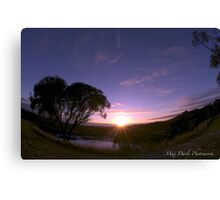 Blue Lake in Twilight, Mt.Gambier,South Australia Canvas Print