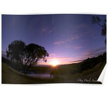 Blue Lake in Twilight, Mt.Gambier,South Australia Poster