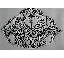 celtic buckle Photographic Print