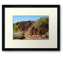 Ochre Pits,West McDonell Ranges,N.T. Framed Print