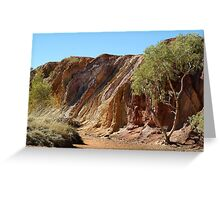 Ochre Pits,West McDonell Ranges,N.T. Greeting Card