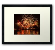 Celebrate! Illuminations Reflections of Earth at Epcot Framed Print