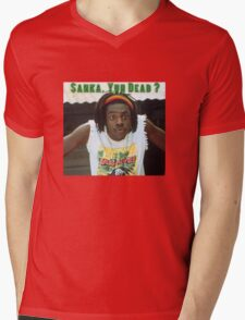 Sanka Yuh Dead? Cool Runnings Mens V-Neck T-Shirt