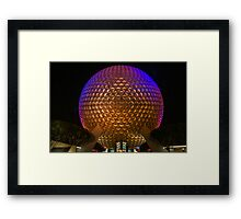 """""""On This.....Our Spaceship Earth"""" - Epcot Framed Print"""