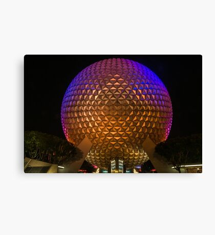 """On This.....Our Spaceship Earth"" - Epcot Canvas Print"