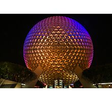 """On This.....Our Spaceship Earth"" - Epcot Photographic Print"