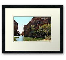 Ellery Creek Big Hole,N.T. Framed Print