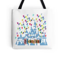 Vintage Disneyland Castle and Balloons Tote Bag