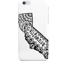 Hipster California Zentangle iPhone Case/Skin