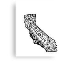 Hipster California Zentangle Metal Print