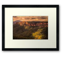 Light and Shadow - Govetts Leap, Blackheath - The HDR Experience Framed Print