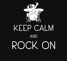 Keep Calm and ROCK ON, Drummer Girl! (in white) Women's Tank Top