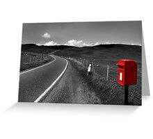 Road to the hills Greeting Card