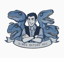 Dinos Before Hos (monochrome blue) Kids Clothes