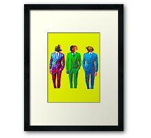 Monkey Suits Framed Print