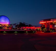 Epcot's Hub at Night by jjacobs2286