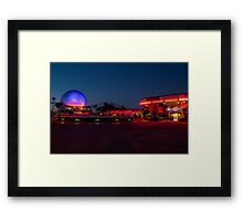 Epcot's Hub at Night Framed Print