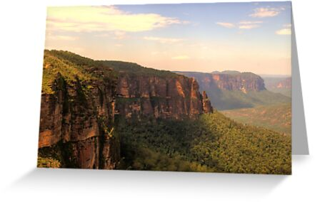 Leap Of Faith #2 - Govetts Leap - The HDR Experience by Philip Johnson