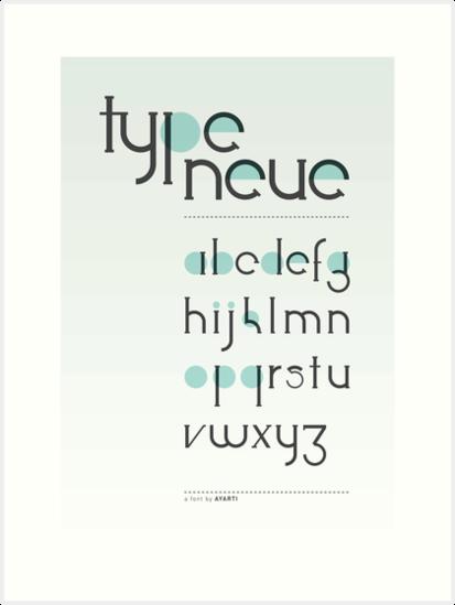 Type Neue Showcase by ayarti