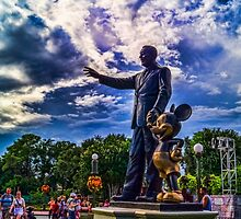 Walt Disney And Mickey Mouse Statue by jjacobs2286