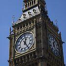 Big Ben beautiful gilded detail, London by BronReid