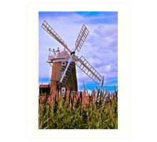 The Windmill at Cley Art Print