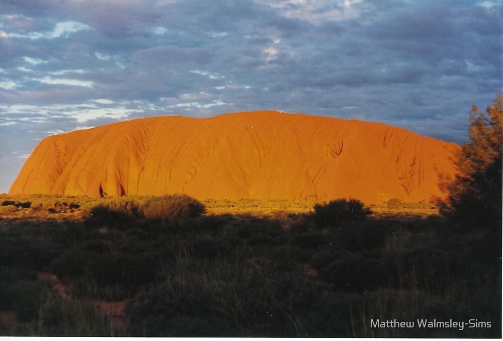 Uluru Sunset by Matthew Walmsley-Sims