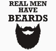 Real Men Have Beards Kids Clothes