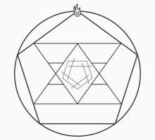 Reverse Flame Alchemy Symbol Kids Clothes