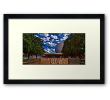 Welcome to Epcot - Spaceship Earth Framed Print