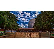 Welcome to Epcot - Spaceship Earth Photographic Print