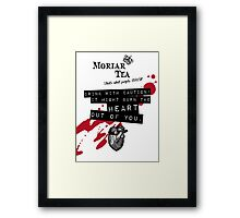 Moriar Tea Drink carefully Framed Print