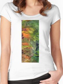 Summer Triptych III Women's Fitted Scoop T-Shirt