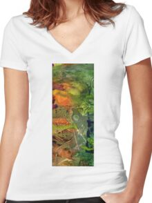 Summer Triptych III Women's Fitted V-Neck T-Shirt