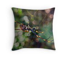 Golden Orb Weaver Throw Pillow