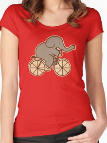 Elephant Cycle  Women's Fitted Scoop T-Shirt
