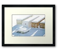 snowstorm sunday1 Framed Print