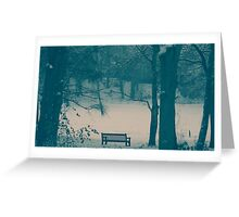 Lonley Bench Greeting Card